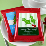 Holiday Personalized Coffee Favor