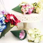 Hydrangea Floral Hanging Cone Favor