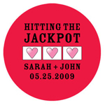 Hitting the Jackpot Personalized Round Stickers