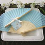 Light Blue Silk Hand Fans