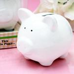 Little White Piggy Ceramic Bank