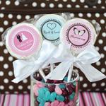 Personalized Wedding Lollipops