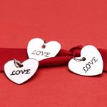 Love Heart Charms - 20 pcs