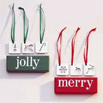 Merry & Jolly Ornaments