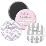 Mod Pattern Save the Date Magnet