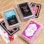 Modern Chic Personalized Playing Cards