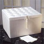 Ribbons and Pearls Moir� Bridal Card Box