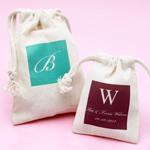 Monogram Natural Muslin Favor Bag