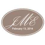 Monogram Personalized Oval Labels - 20 pcs