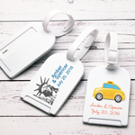 New York Theme Personalized Luggage Tag Favor