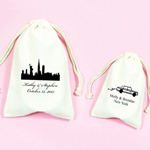 New York Personalized Muslin Favor Bag