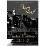 New York Skyline Save the Date Magnets - 20 pcs