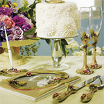 Ornamental Dragonfly with Jewels Wedding Collection