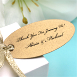 Oval Elegance Personalized Hang Tags