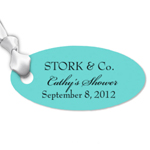 Oval Personalized Favor Hang Tags