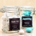 Personalized Chalkboard Square Glass Jar