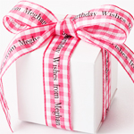 Gingham Continuous Personalized Ribbons - 10 yds