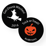 Personalized Halloween Round Labels - 20 pcs