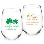 Personalized Irish Stemless Wine Glass - Exclusive
