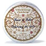 Personalized Wedding Tea Tins - 20 pcs