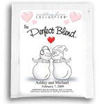 Personalized Holiday, Winter Tea Wedding Favors