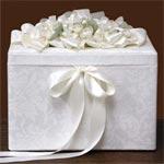 Petite Brocade Wedding Card Box