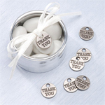 Pewter Thank You Favor Charms - 12 pcs