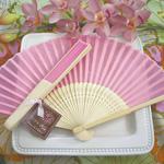 Pink Silk Hand Fans
