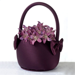 """Plum Perfection"" Flower Girl Basket"