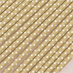 Polka Dots Metallic Paper Straws - 75 pieces