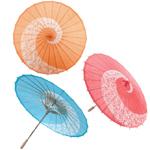 Leaf Design Paper Parasols