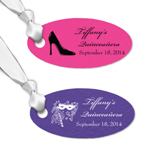 Quinceanera Personalized Oval Hang Tags