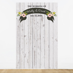 Rustic Chic Personalized Photo Booth Backdrop