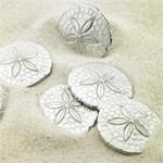 Sand Dollar Pocket Charms - 50 pcs