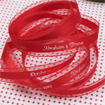 Satin Centered Personalized Continuous Ribbons - 25 yards