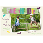 Fun Arrows Save The Date Magnets - set of 10