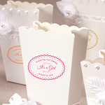 Personalized Scalloped and Dots Clear Labels - 20 pieces