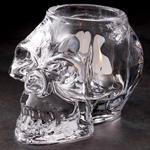 Skull Glass Candle Votive Holder