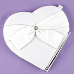 Sparkling Sash Heart Guest Book with Pen