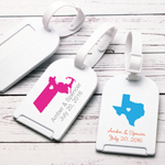 State of Love Personalized Luggage Tag Favor