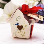 Sweet Bird House Favor Box - 12 pcs