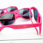 Hot Pink Personalized Sunglasses