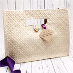 Large Palm Leaf Tote Bags