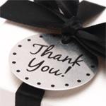 Thank You Charms - 12 pcs