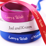 "5/8"" Satin Personalized Continuous Ribbons"