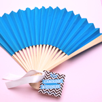 Turquoise Paper Hand Fans