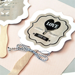 Personalized Vintage Wedding Paddle Fans