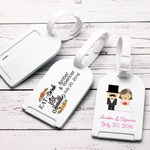 Wedding Theme Personalized Luggage Tag Favor