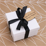 White Glossy Favor Box