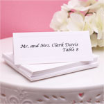 White Blank Place Cards - 50 pcs